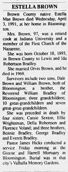 Estella Brown day of William Lewis Bradley and Ida Robertson Bradley -  Newspapers.com