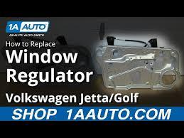 how to install replace front window regulator 1999 06 vw volkwagen jetta golf you