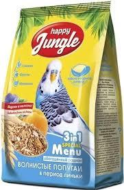 Корм <b>Happy Jungle для волнистых</b> попугаев в период линьки ...