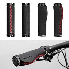 promend bike bicycle leather handle handlebar grips ergonomic hand sewing cycling mtb road bike handle b cod