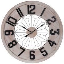 white black wood wall clock hobby