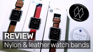 review monowear s nylon leather apple watch bands