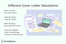 greeting for your cover letter