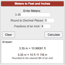 Feet To Meters Chart Conversion Chart Feet To Meters And Inches Conversion Feet Meter