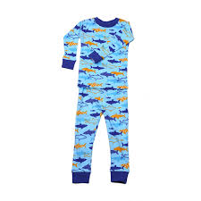 sharks organic cotton pajamas