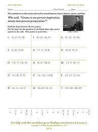 writing equations in standard form using integers worksheet the best workshee