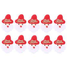10 Pcs <b>Christmas</b> Patch DIY Santa with Merry <b>Christmas</b> Decorative ...