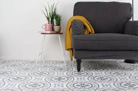 how to stencil wooden or concrete floors