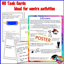 Idioms Activities Anchor Chart And Task Cards Figurative Language