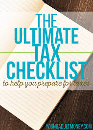 tax preparation checklist excel the ultimate tax checklist to help you prepare for taxes young