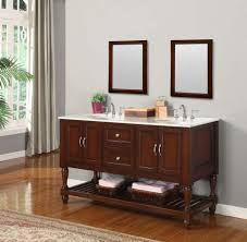Bathroom   Awesome Classic Of Mahogany Wooden Double Vanities - Bathrooms plus