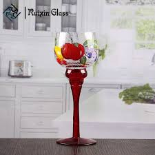 8 inch tall glass candle holders bulk goblet long stem glass candle holders whole