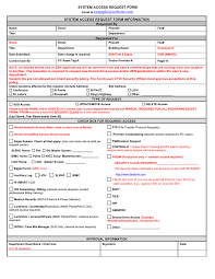 Access Order Form Template System Access Request Form In Word And Pdf Formats