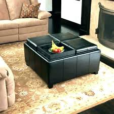 ottoman with storage and tray cube ottomans target black coffee table seating round