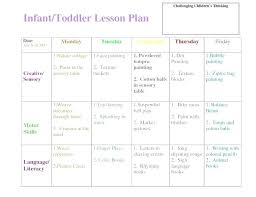 Lesson Plans Blank Template Lesson Plans For Infants And Toddlers Free Preschool