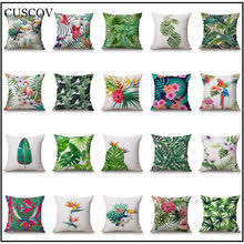 45 45tropical rainforest plant chair pillow cover cushion polyester polyester throw pillow sofa home decorative pillowcase