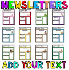 Teachers Newsletter Templates Teacher Newsletter Templates Editable Newsletters By