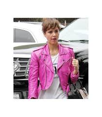 women s jackets jessica alba pink biker leather jacket jessica