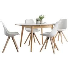 fabron extendable dining set with 4 chairs
