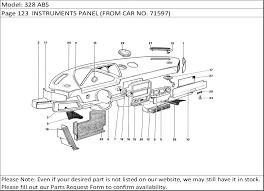 buy ferrari part 61802700 fuse box knob, 328 buy ferrari spares 2007 Maserati Quattroporte Fuse Box Location 328 abs, page 123 instruments panel (from car no 2007 Maserati Quattroporte Executive GT