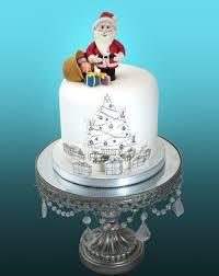 Christmas Cake Design Pinterest Christmas Tree Santa Cake Christmas Cake Topper Christmas