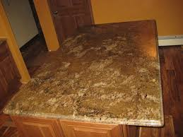 custom granite marigold countertop with ogee beveled edge caledonia