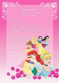 Birthday Invite Templates Free To Download Adorable Disney Princess Birthday Invitation Free To Download And Edit
