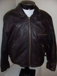 henry maddock made in italy mens sz 54 large wool lined leather jacket
