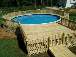 Oval Above Ground Pool Deck Plans Images And Charming Ontario Pools