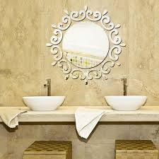 the new silver mirror wall stickers shower room wall stickers original design wall stickers wall decals lm1035a