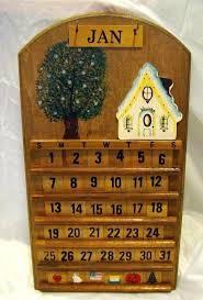 creative calendar literary style wooden home furnishing decorative calendars cute perpetual wall block