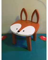 painted kids furniture.  furniture woodland animal stool orange fox hand painted wood toddler chair kids  furniture forest theme nursery for painted furniture i