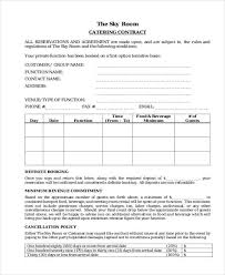 Free 7 Catering Contract Form Samples In Sample Example