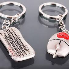 <b>One Pair Fashion</b> Valentine's Day Lover Gift Keychain Mouse ...