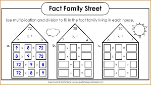 Fact Families Multiplication Worksheet Worksheets And Printable ...