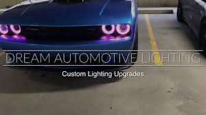 diode dynamics rgbw halo kit on a 2016 dodge challenger dream automotive lighting