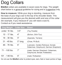 Small Dog Collar Size Chart The Original Bitenot Dog Collar Size 8 Cone Alternative