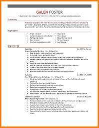 Janitorial Resume Cover Letter Janitorial Resume Example