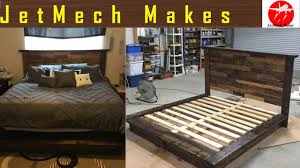 how to make a rustic bed with pallet wood headboard