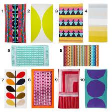 colorful modern beach towels  design milk