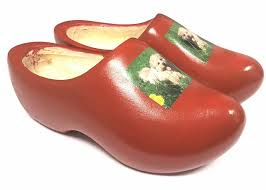 wooden shoes with a picture of your own dog