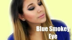 y blue smokey eye makeup 2016