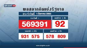 ตรวจหวย สลากกินแบ่งรัฐบาล 1 ส.ค. 63 รางวัลที่ 1 คือ 569391