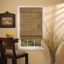 ... Brown Square Contemporary Bamboo Window Shades Varnished Design:  Terrific bamboo window shades ...
