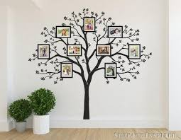 large family tree wall decal photo tree decals on large wooden tree wall art with large family tree wall decal photo tree decals surface inspired