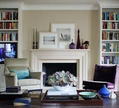 Living Room Alcove Contemporary Fireplace Mantel Shelves Living Room Traditional With