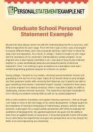 Personal Statement Essays Grad School