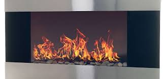 an elegant stainless steel electric fireplace