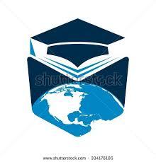 student book logo graduation hat universe globe