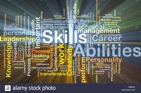 background concept wordcloud illustration of skills abilities background concept wordcloud illustration of skills abilities glowing light